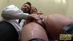 Brunette Milf throated by Pascal Thumb
