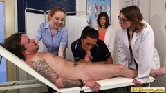 Sexy Nurses blowing cfnm cock in group domination Thumb