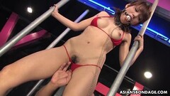 Bound asian gets her pussy fingered Thumb