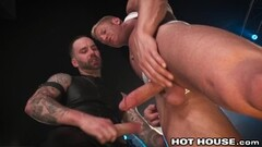 Hot Leather Boy Makes Big Dick Muscle Daddy Cum Thumb