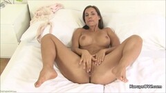 Randy Satin Bloom Fingering Her Pussy Thumb