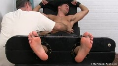 Stud Madison feet and armpits tickled Thumb