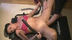 Naughty wife gets a fistful as she works out Thumb