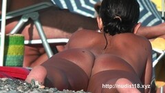 Nudist beach time with two gorgeous brunettes Thumb