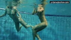 Hot amateurs showing their bodies off under water Thumb