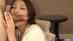 Premium cock sucking POV scenes Asian babe Kanako Tsuchiyo Thumb