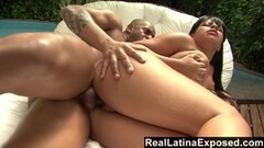 Naughty Latina anal fucking by the pool Thumb