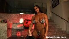 Huge fit Amber rides the Sybian in a bikini Thumb
