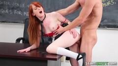 Fiery teen Krystal Orchid riding her teachers cock Thumb
