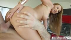 Seductive babe rides this hard cock Thumb