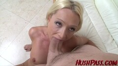 Blonde takes on this huge cock Thumb