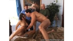 Husband watches his wife get fucked Thumb