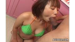 Asian gets her slippery throat slammed Thumb
